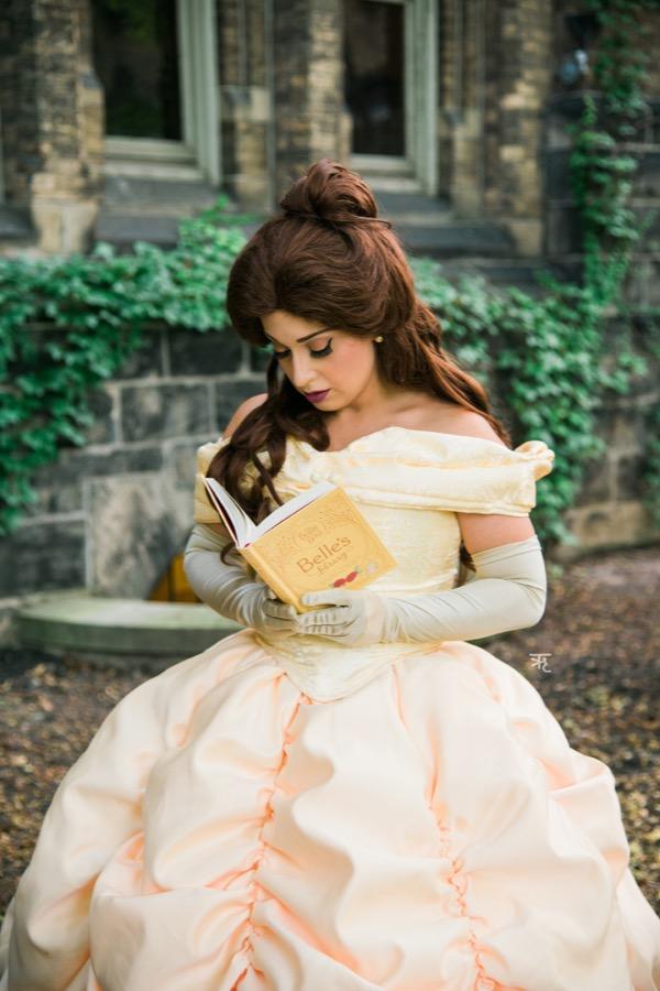 Princess Beauty reading a book