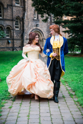 Princess Beauty and Prince Walking