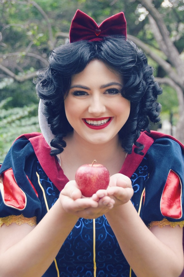 Apple Princess holding apple