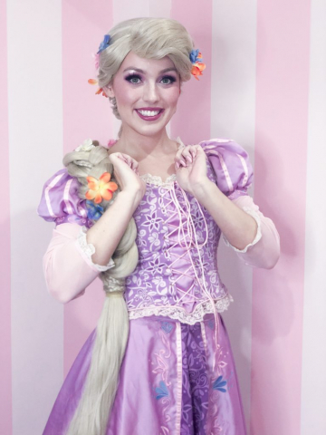 Rapunzel is smiling!