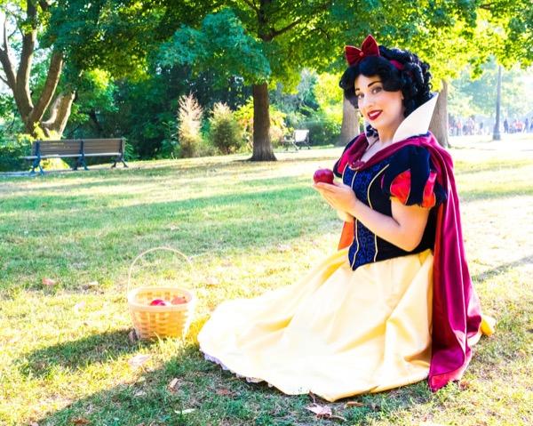 Apple Princess sitting with apple