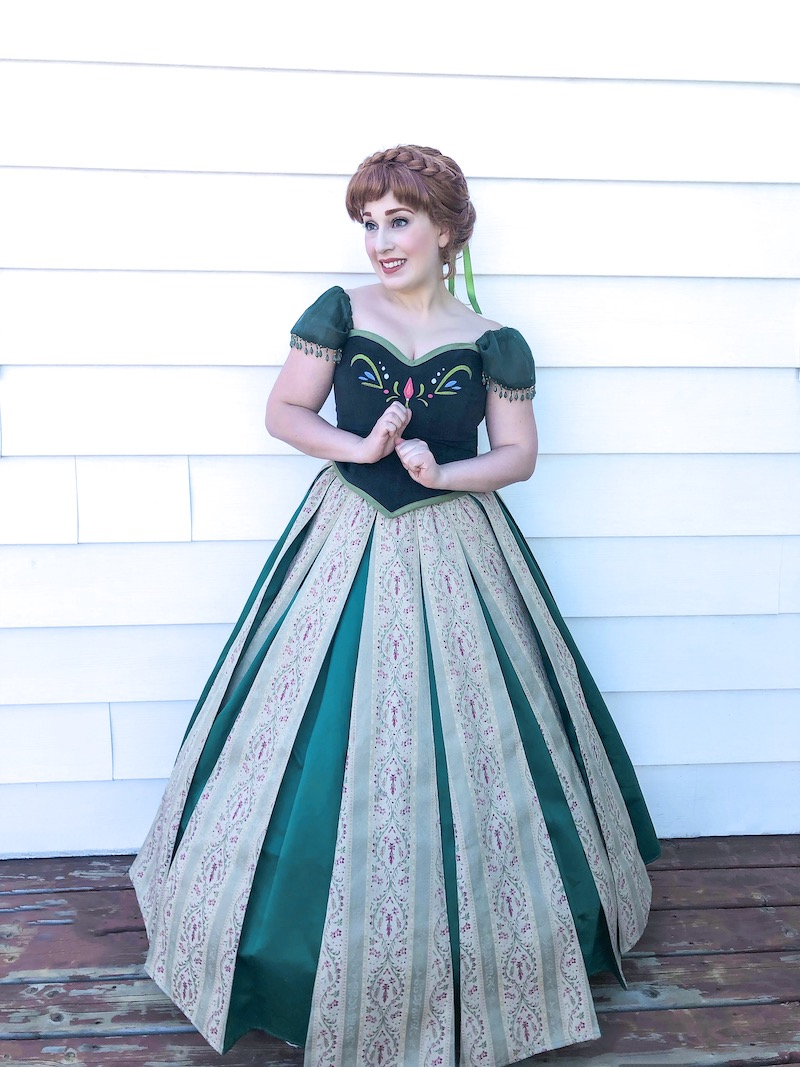Princess Anna is smiling and excited for coronation day